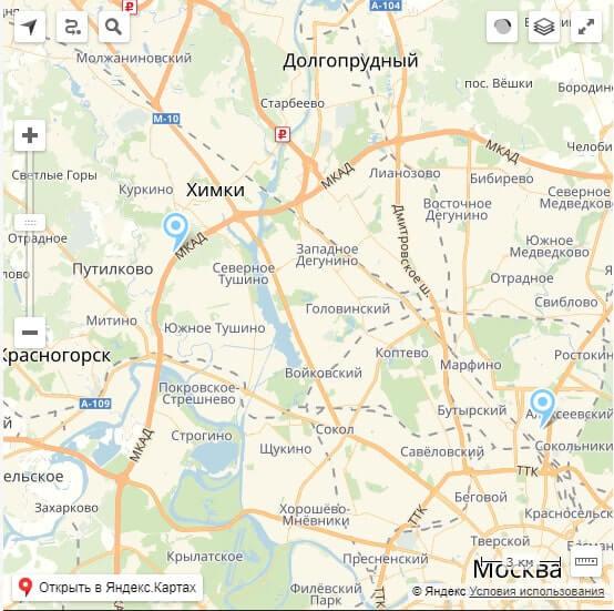 Карта проезда и местоположения компании фото